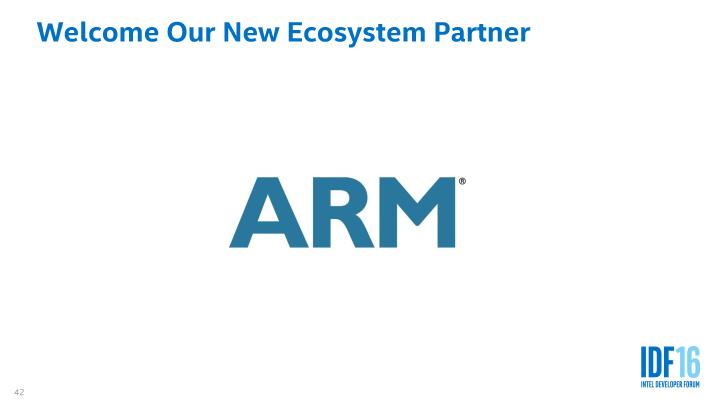 IntelはARMをファウンドリビジネスのパートナーとして発表