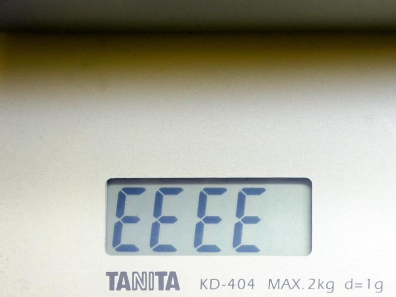 重量は最大2kgの測量機で計測エラーとなったため、仕様の1.9kgよりも重いと思われる
