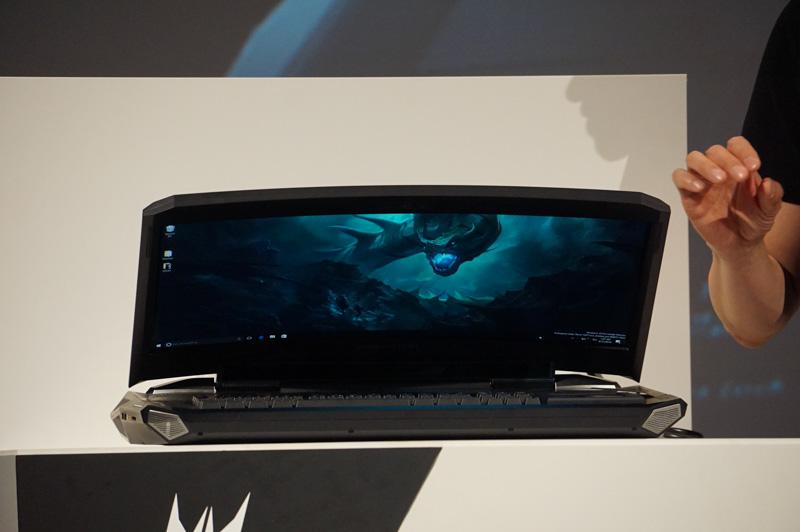 Acerが発表したPredator 21 X、21型の湾曲ディスプレイを搭載したゲーミングPC