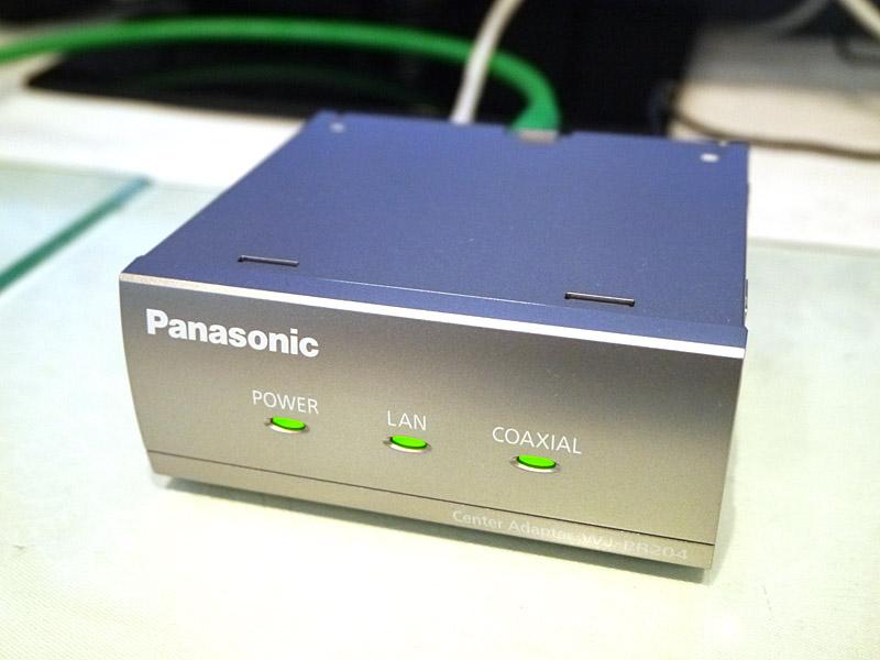 パソナニック製のHD-PLC同軸LANコンバータ