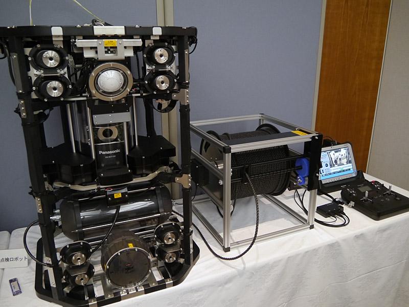 水中インフラ点検ロボットにおいてもHD-PLCを採用