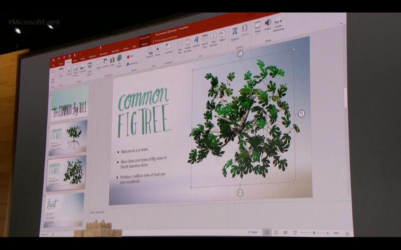 PowerPointも3Dモデルを使ったプレゼンテーションが容易に作成できる