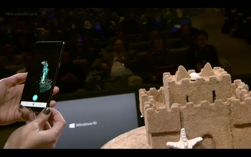 オブジェクト(デモでは砂の城)の周囲を360度撮るだけで、3Dデータが生成されていく