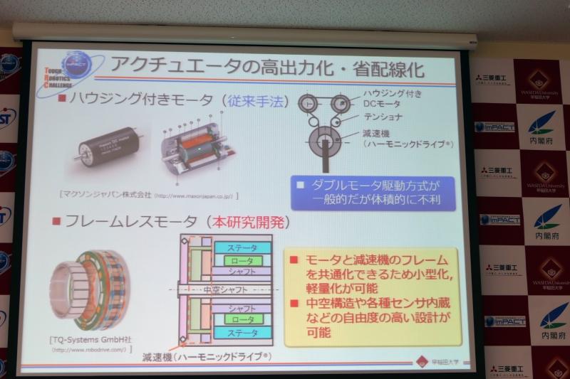 中空構造のモーターで高出力・省配線化