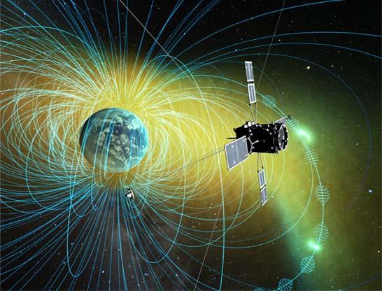 ジオスペース探査衛星の外観図