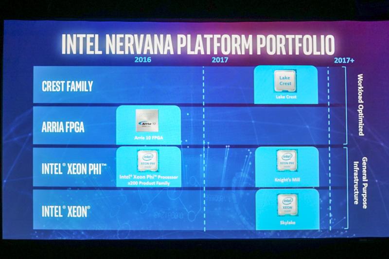 このように複数のレベルの製品を投入していくのがIntel Nervanaの製品戦略