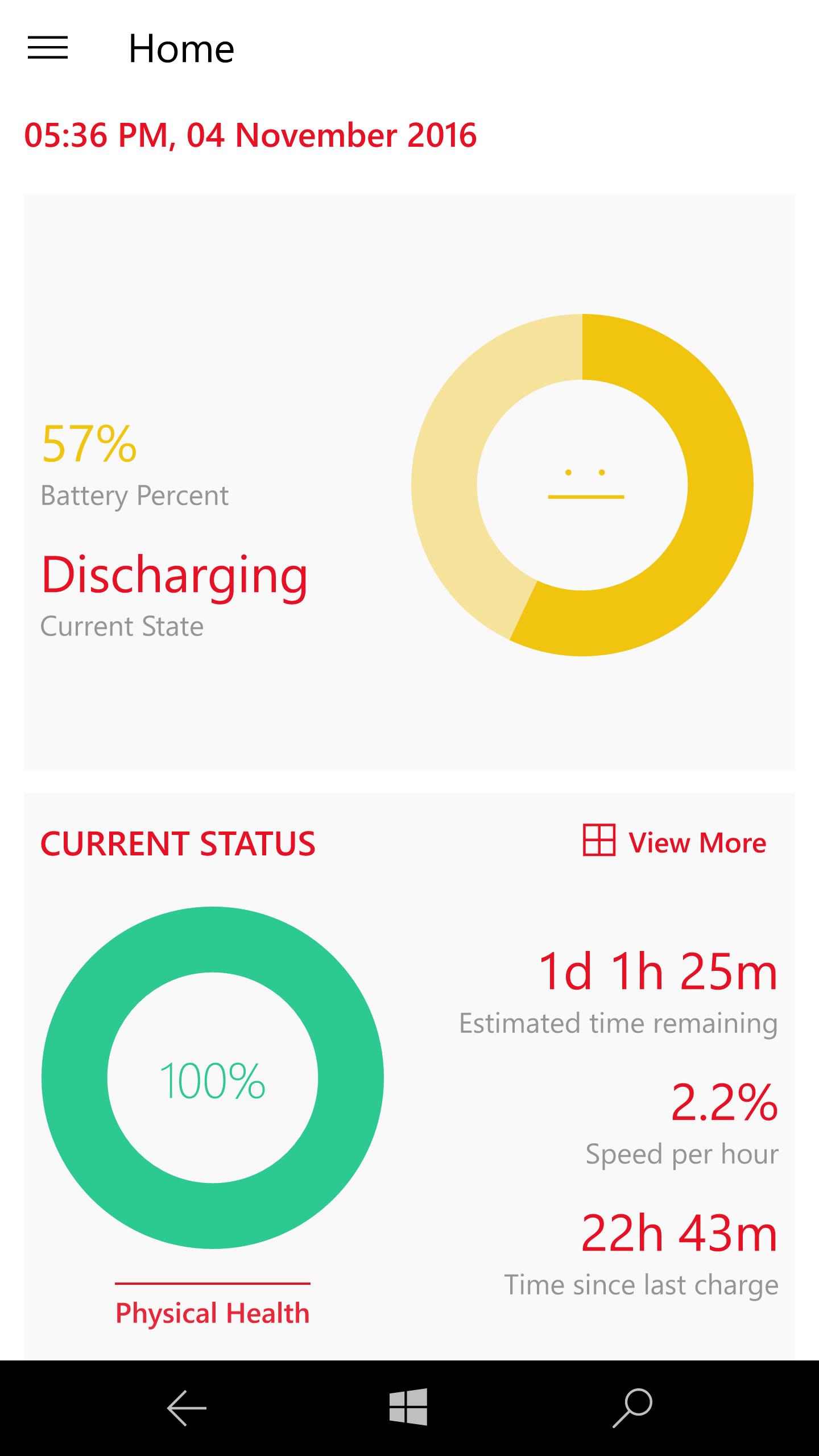 Battery X。この手のアプリとしては珍しくUWPアプリ