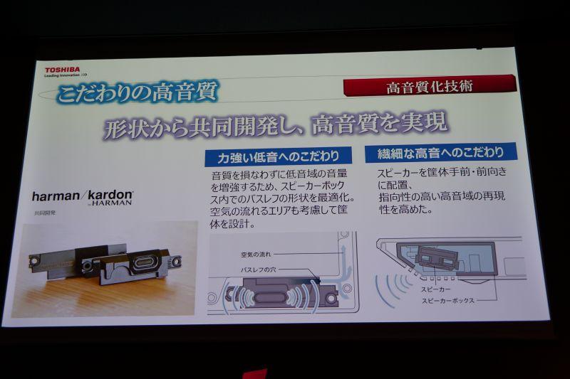 スピーカーはharman/kardonと共同開発