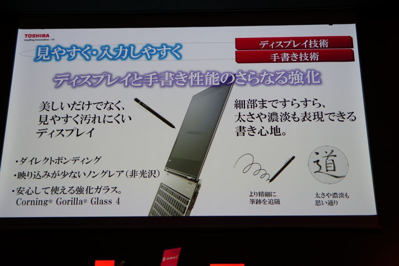 ペンはワコムの技術を採用し、2,048段階の筆圧を感知