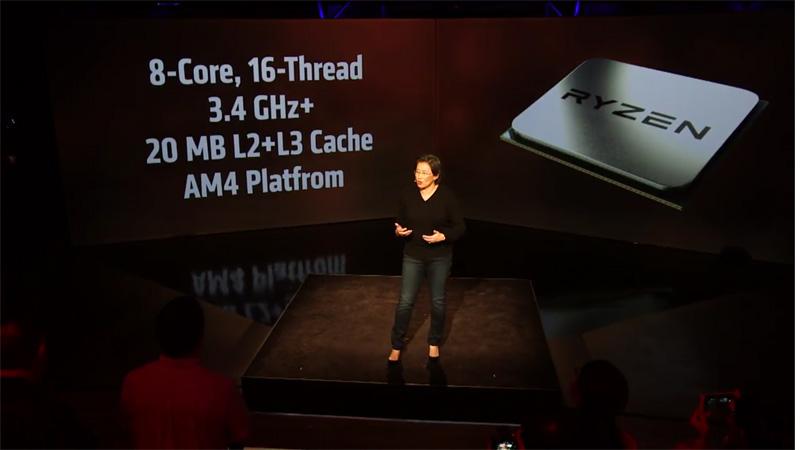RYZENは3.4GHz以上で駆動し、合計20MBのキャッシュを備える