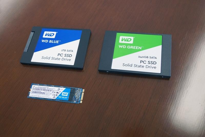 WD BlueとWD GreenのSSD