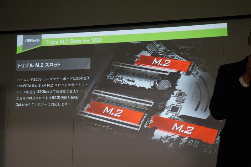 M.2スロットを3基実装