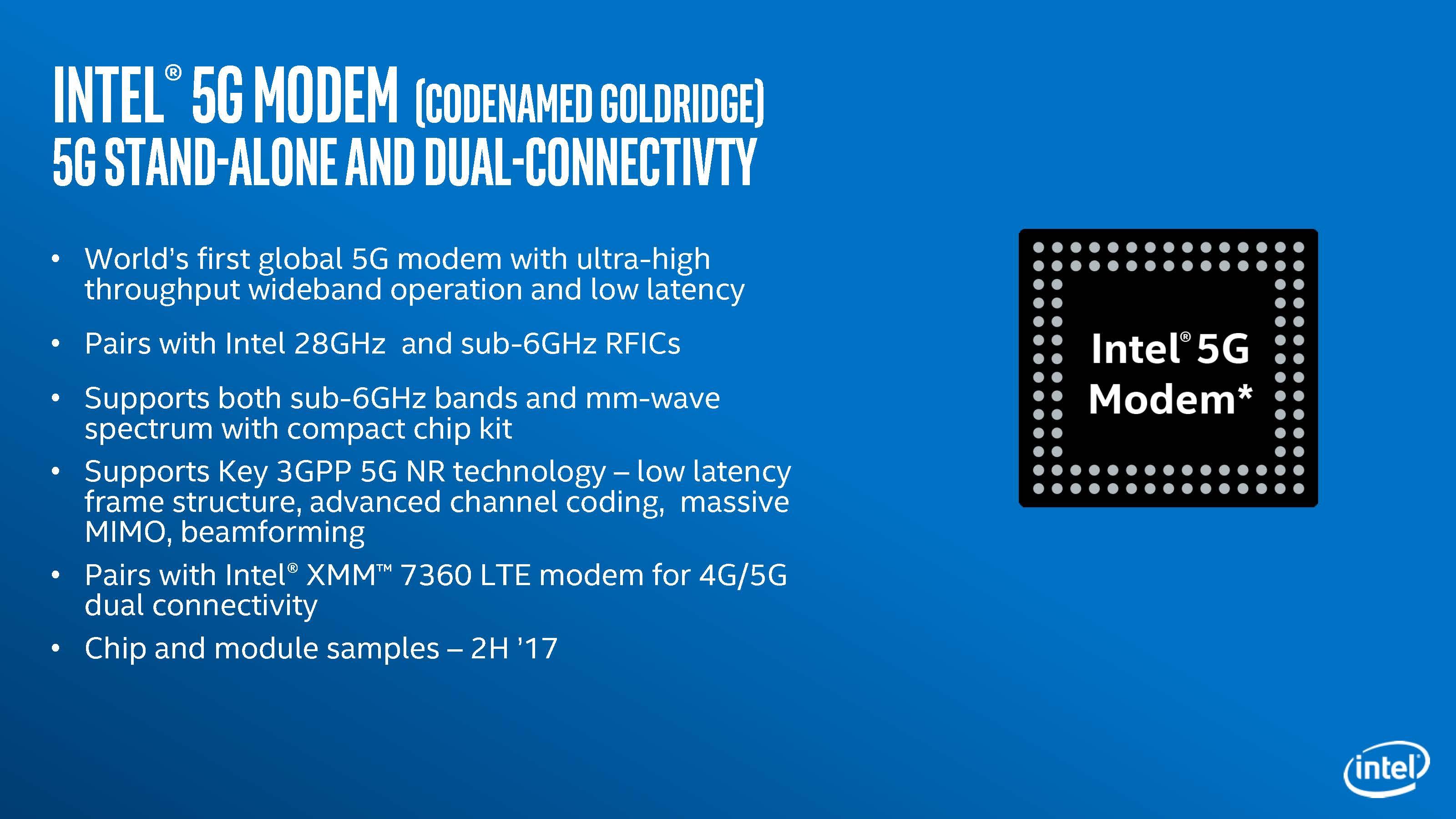 Intelが発表した世界初のグローバル周波数対応5Gモデム