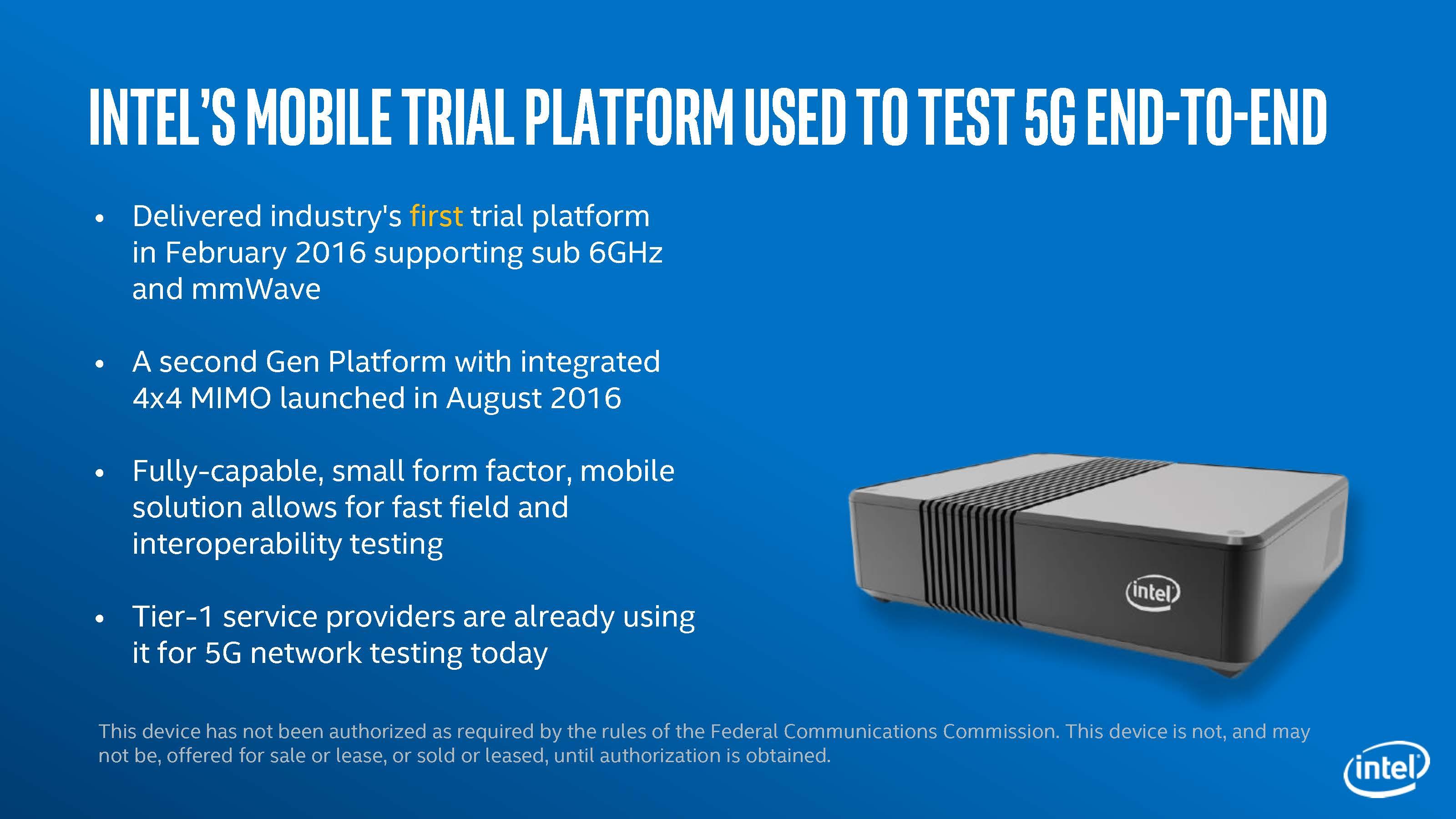昨年Intelが顧客に提供した5G開発プラットフォーム