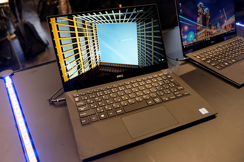 Kaby Lake搭載となったXPS 13も展示