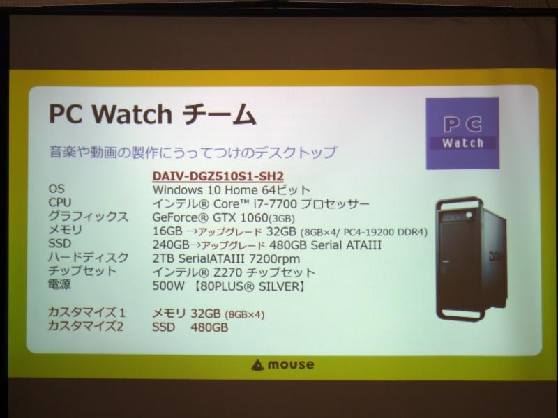 そして、PC Watchチームはクリエイター向けブランドの「DAIV」を選択