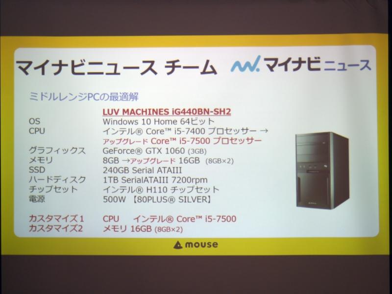 マイナビニュースチームはLUV MACHINES。MicroATXベースのPCだ