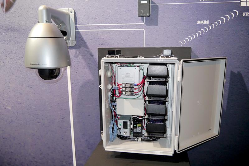 仮設警備システム。マラソンなどの短期間の競技用に設置する簡易設置型の監視カメラソリューション