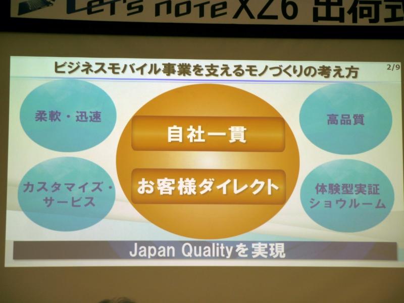 神戸工場におけるモノづくりの考え方