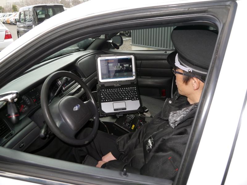 タフブックは米国では数多くの警察に導入されている。事故や事件の発生時に証拠となる映像を記録する