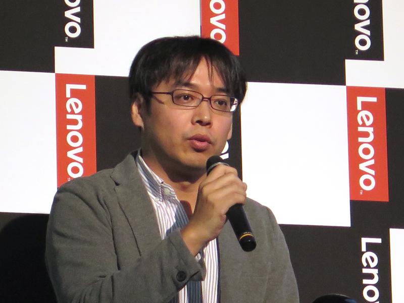 ノート製品を説明した同社 コンシューマ製品事業部 ノートブック製品担当の三島達夫氏