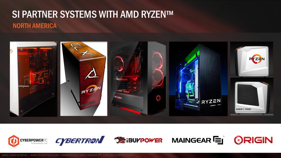 各エリアのPCビルダーのRyzen 7システム