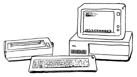IBM-PC。たくさんの互換機が登場し、パソコン文化を作り上げるきっかけとなる。