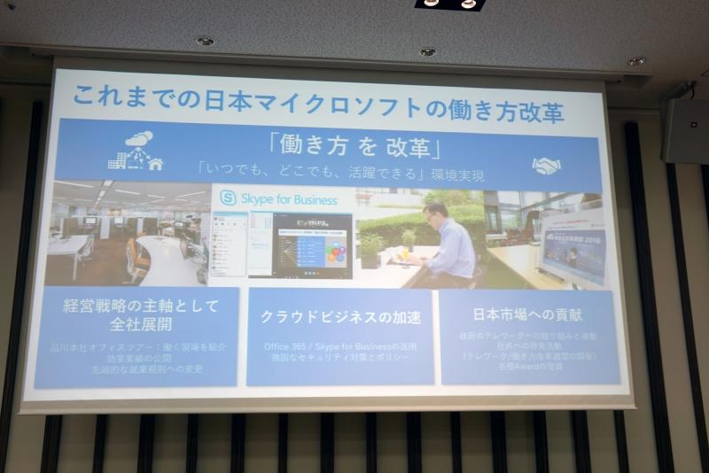 日本マイクロソフトが推進してきた働き方改革