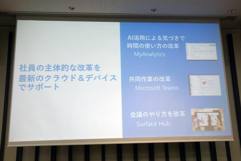 日本マイクロソフトが社内で進めている働き方改革の例