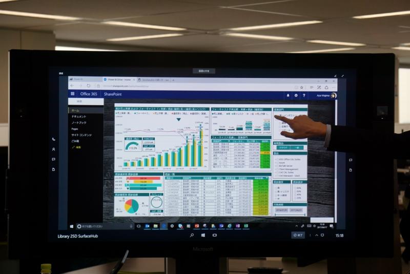 最近ではSharePoint上でPOWER BIを動作させられるようになった。以前より顧客からの要望が多かったという