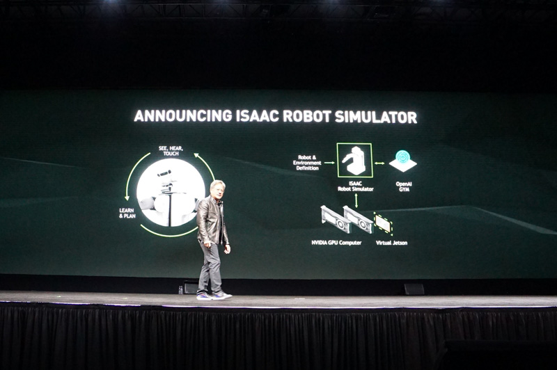 ロボットの学習シミュレーションISAAC
