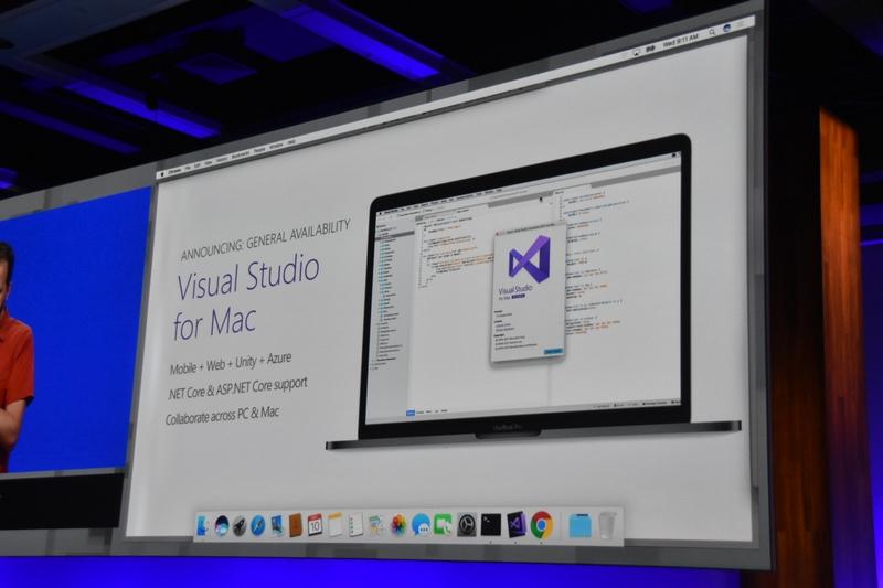 Visual Studio for Macのジェネラルアベイラビリティ(GA)も発表された