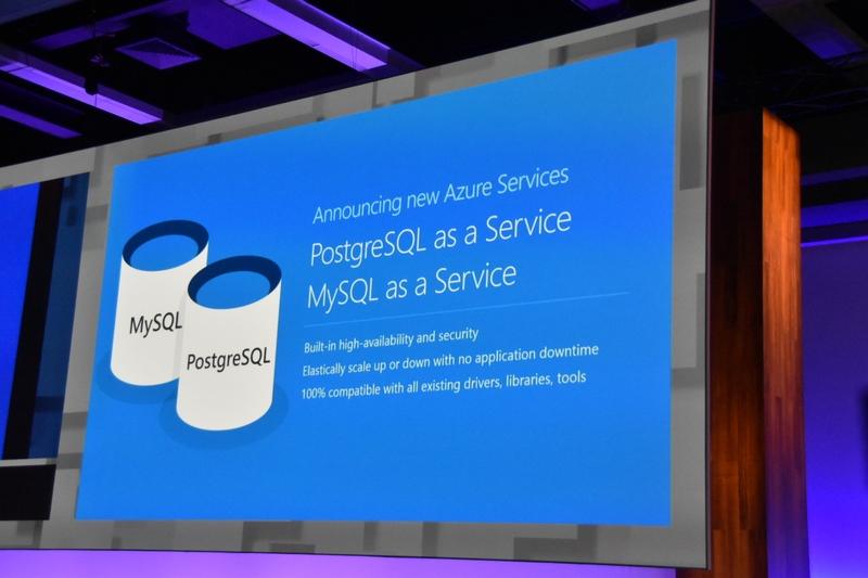 新データベースとしてのPostgreSQLサービスやMySQLサービスが登場