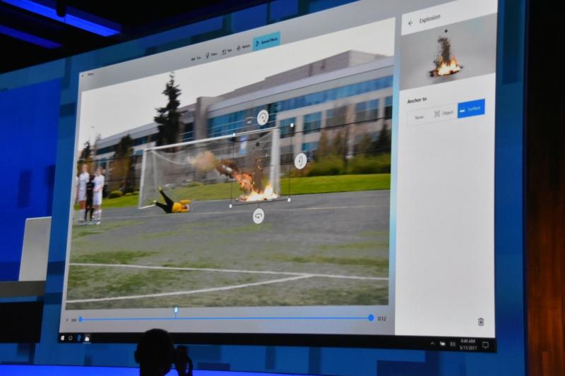 ボールの動きに応じて3Dオブジェクトが追随する