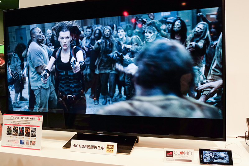 dTVで4K HDR映画を視聴
