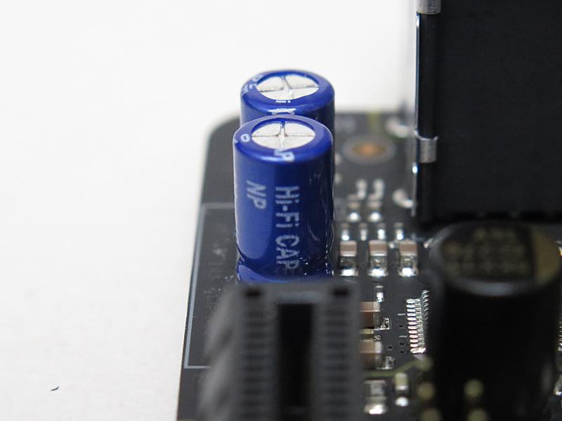 オーディオコンデンサはHi-Fi CAPの印刷がある