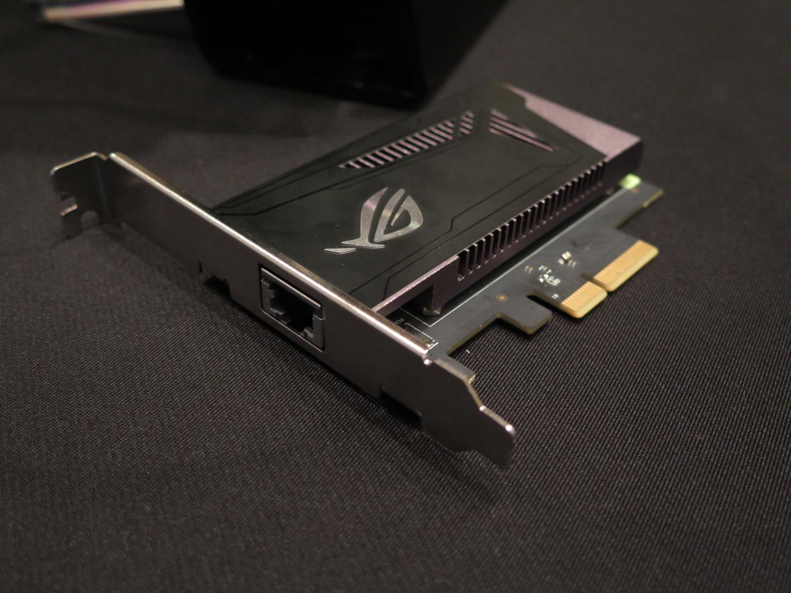 10GbEに対応したネットワークカードが付属する