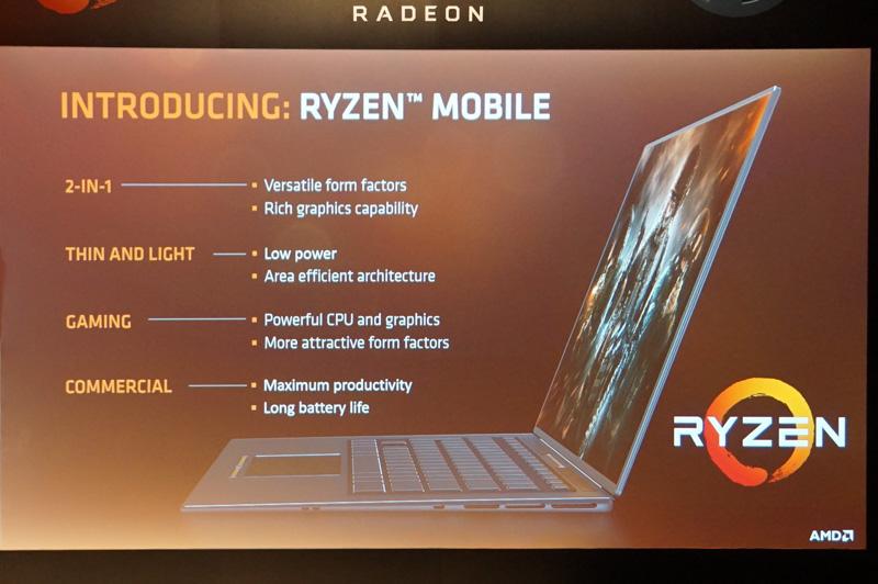 Ryzen Mobileがターゲットにする製品