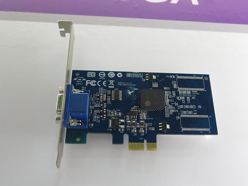 ミニD-Sub15ピンのみを搭載した「VGA0419」