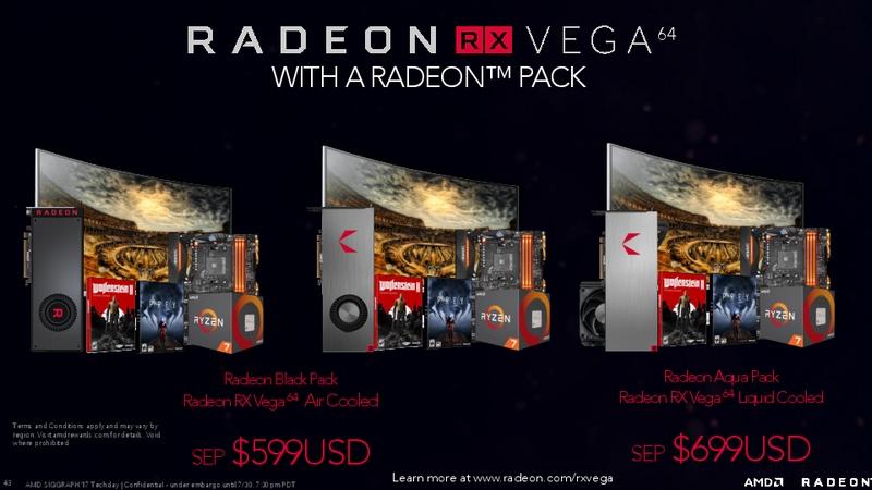 3種類のRadeon Pack