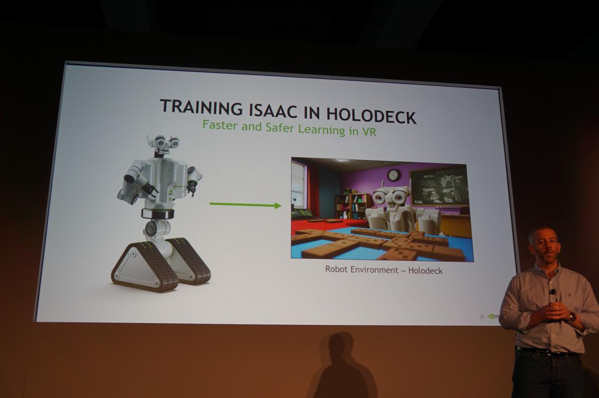 ロボットシミュレーションのISSACもデモされる