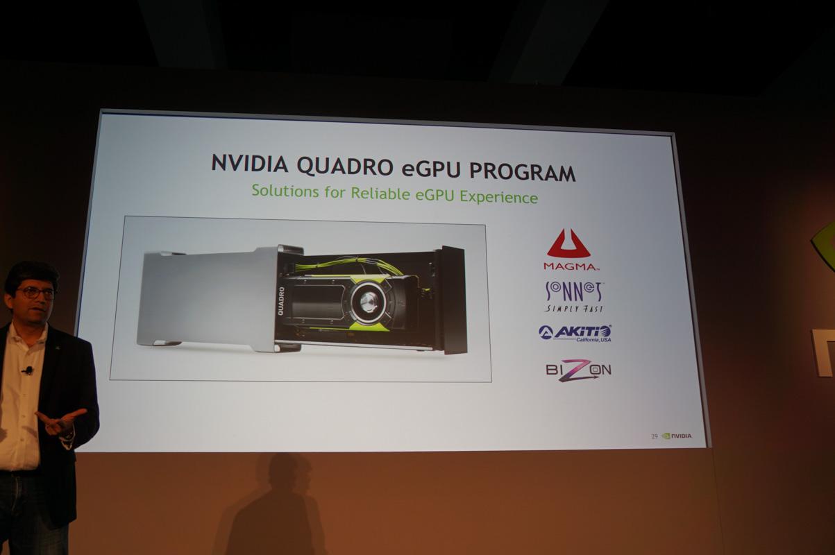 NVIDIAのパートナーからは外付けボックスとQuadroをセットにした製品も提供予定