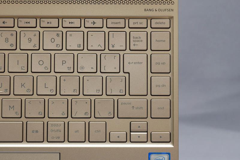 無理な配列はほとんどなく、タッチタイプも余裕だが、個人的にはEnterキー右にキーを配置する点が残念