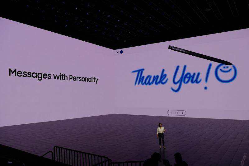 S penの新機能「Live Message」では、書いた内容をアニメーションで保存し共有できる