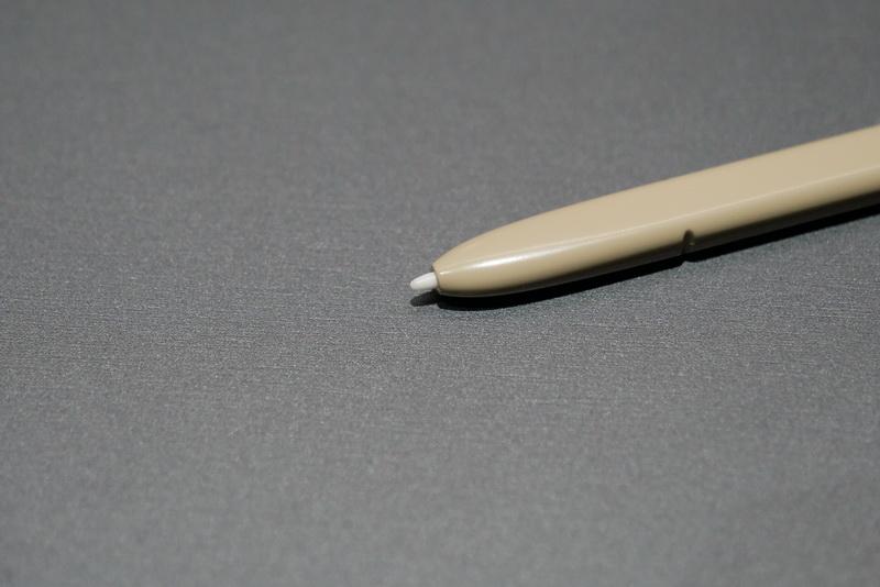 ペン先は0.7mmの細さで、繊細な入力が可能