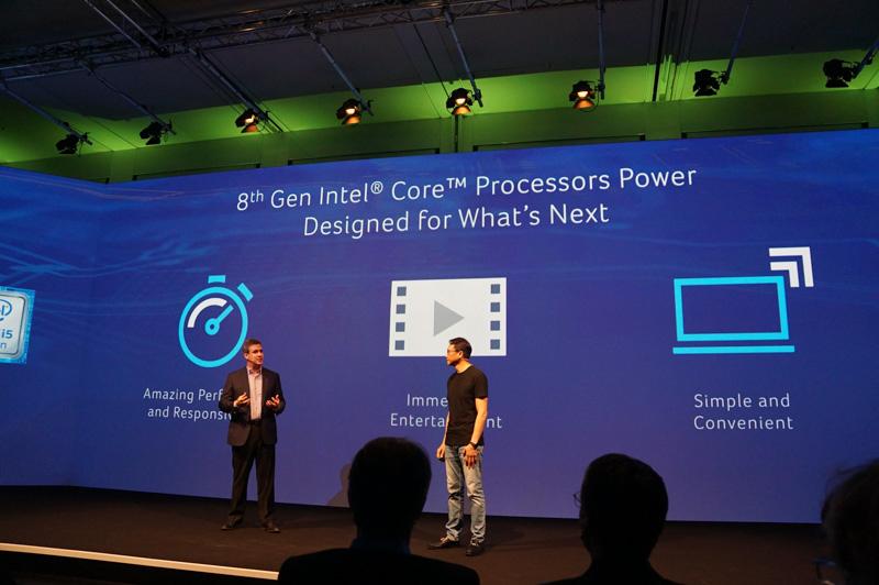 第8世代Coreプロセッサの優位点を説明