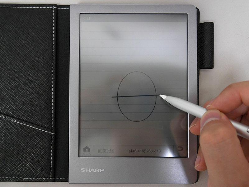 円形や直線といったデジタルならではの書き込み機能が実装