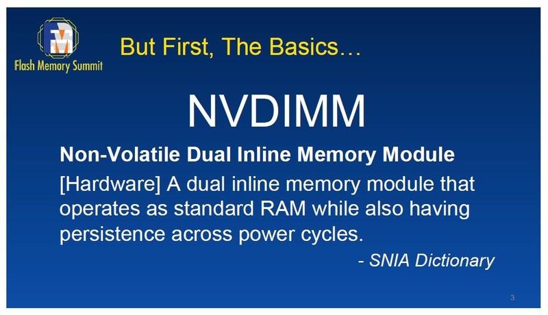 NVDIMM(Non-Volatile  Dual-Inline Memory Module)の定義