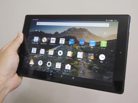 2万円切りの格安タブレット「Amazon Fire HD 10(第7世代)」をレビュー Fire HD 10(第7世代)。従来の16GBモデルがなくなり、32GBと64GBのモデルがラインナップされる。なお海外ではマリンブルー、パンチレッドも含めた3色展開だが日本国内ではブラックのみ販売される