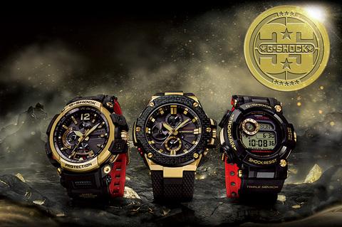 カシオ、「G-SHOCK」の誕生35周年を記念した特別モデル GOLD TORNADOシリーズ